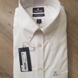 Men's Stafford White Dress Button up Shirt